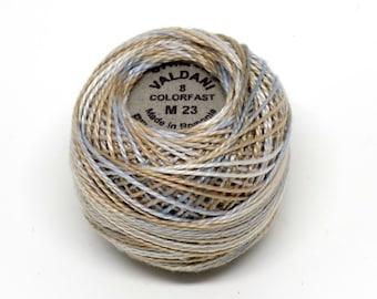 Valdani Pearl Cotton Thread Size 8 Variegated: #M23 Neutrals and Naturals