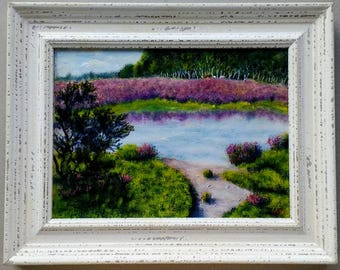 New Forest Heather 28 x 36 cm in frame