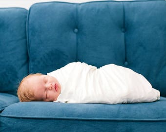 White Swaddle Blanket