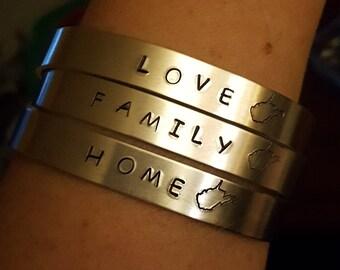 West Virginia Cuff Bracelet