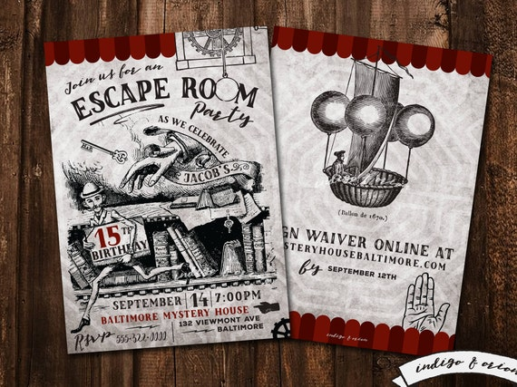 Impeccable image with escape room printable
