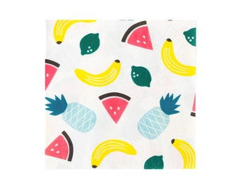Fruit Party Napkins - Fruit Napkins, Fruit Party Supplies, Fruit Birthday Napkins, Fruit Baby Shower, One in a Melon, Summer Party Decor