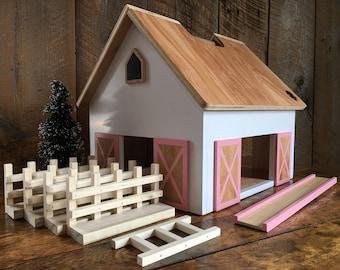 READY TO SHIP - Kids Hardwood Toy Barn