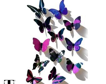 Purple Butterflies, 3D Butterflies, Butterfly Wall Decor, Butterfly  Decoration, Butterfly Art,