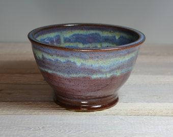 Ceramic Bowl - Serving Bowl - Small Mixing Bowl - Purple & Blue