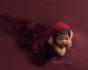 RTS MOHAIR BONNETS with matching wrap optional....newborn props, newborn photography