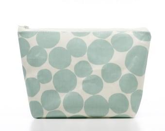 Spotty Cosmetic Bag, Bubble Oilcloth Wash Bag, Makeup Bag, Womens Gift
