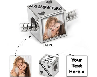 Daughter Picture Charm | Pandora Bracelet Compatible - Personalised Jewellery for mums
