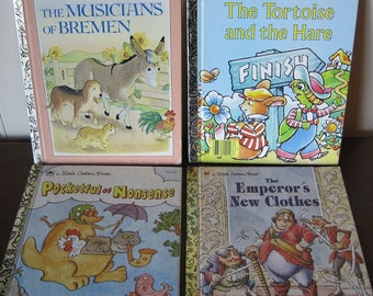 Books, Little Golden Books, Set of 4 Children's Books, Children's Books