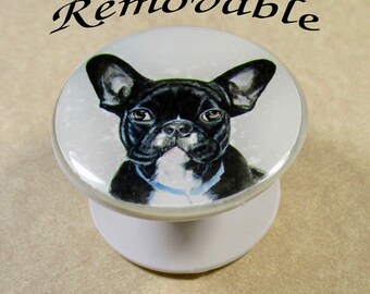 French Bulldog Cell Phone Grip Skin, French Bulldog Phone Stand Decal, French Bulldog Phone Holder Skin, French Bulldog Gifts