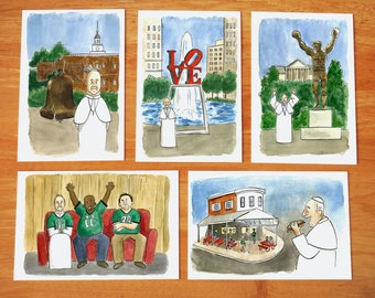 Pope Francis postcards 5-pack