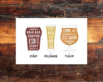 Beer Prints - 11x17 poster