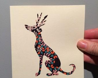 Liberty London Whippet Christmas card design