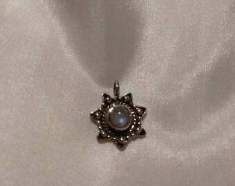Moonstone pendant sterling silver