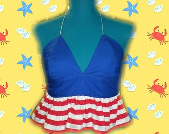 Red,white and blue halter!