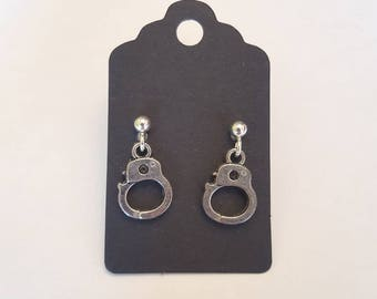 Unusual handcuff earrings
