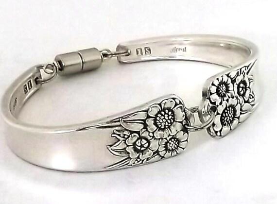 Spoon Bracelet April 1950 Sunflower Vintage Silverware Jewelry