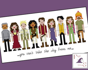 Firefly Serenity Inspired Cross Stitch Pattern - PDF Pattern - INSTANT DOWNLOAD