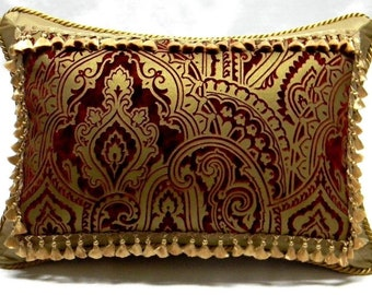 Beacon Hill, Gilded Paisley Designer accent Pillow