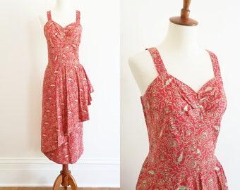1950s Vintage Sarong Dress