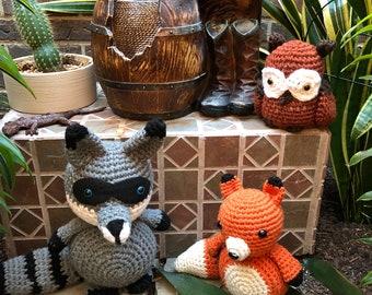 Crochet tiny fox
