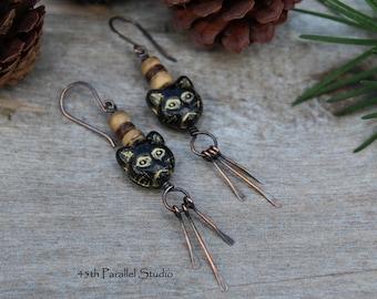 Kitty Cat Earrings, Cat Lover Gift, Cat Earrings, Cat Face Earrings, Cat Jewelry, Kitty Earrings, Kitty Jewelry, Animal Earrings, Cats