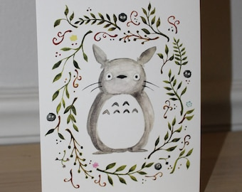 Totoro 5x7 Watercolor Print