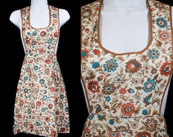 Vintage 60's Kid's/Youth Apron Floral Pattern