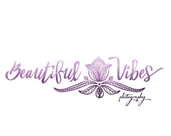 Premade Logo Calligraphy Logo Small Boutique - Photography Logo and Watermark Design - Business Branding - One of a Kind Logo