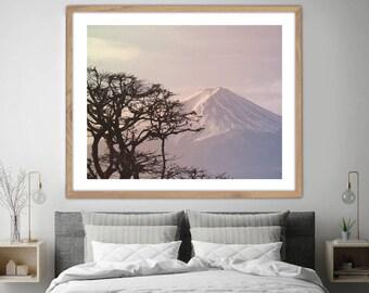 Mt Fuji Art Print, Mountain, Japanese Decor, Nature Decor, Mt Fuji Print, Modern Wall Art, Japan Decor, Nature Photography, Mt Fuji Photo