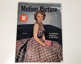 Motion Picture Magazine July 1948 - Cover June Haver - Vintage Movie Magazine - Inside Jimmy Stewart, Ray Milland, Jennifer Jones & More!