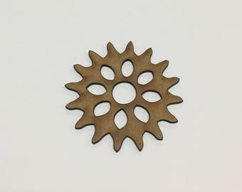 Steampunk Cogs Wooden MDF - 65mm - Decoration Card Making Craft - (9) - A10