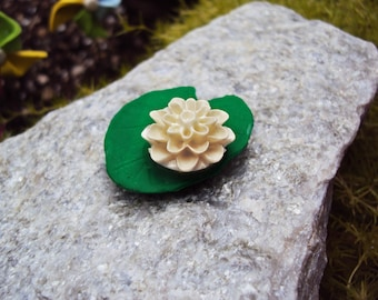 Miniature Lotus Pad for Fairy Garden