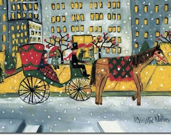 Horse and Carriage, Original Signed  Painting by Michelle Winters