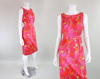 1960's Day Dress with Abstract Print
