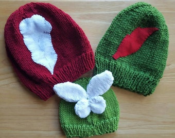 Peter Pan Beanie Collection: Peter Pan Beanie, Captain Hook Beanie, and Baby Tinkerbell Hat