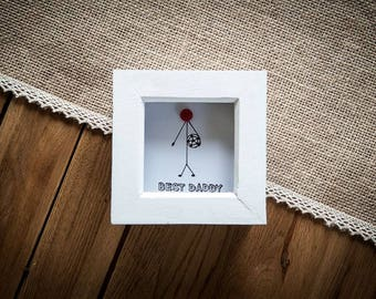 Football Best Dad Picture 10x10 cm