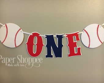 Baseball high chair banner  one