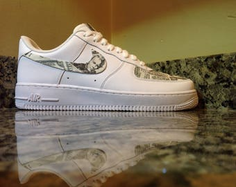 "Nike Air Force 1 ""Cash Money' Custom Designed and Painted Available in all sizes"