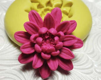 LILY LOTUS Flower Flexible Silicone Rubber Push Mold for Resin Wax Fondant Polymer Clay Ice 378M
