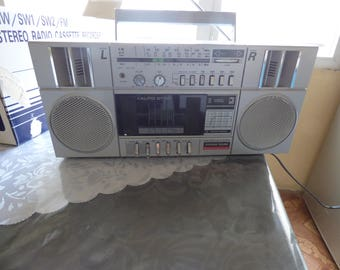 Vintage Magnum Sound Kp-30 Boombox Stereo Radio Cassette Recorder, New old stoke work fine +box+paper