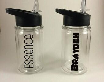 Kids Water Bottle / Personalized Water Bottle / BPA Free Bottle / Children's Party Favor / Kids Gift / Cup for Kids / Kid Tumbler