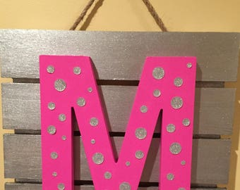 The Most Important Letter - Your Recipients First Initial!!!  Custom Designed with favorite colors and designs!