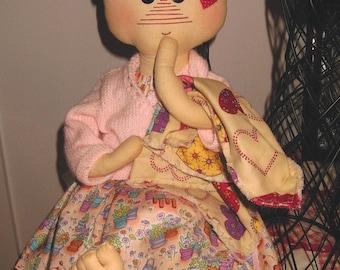 Cloth Doll handmade Raggedy Tyffany