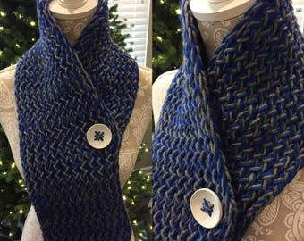 Blue and Gray Scarves