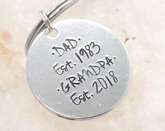 Gift For Grandpa, Grandpa Keychain, New Grandpa Gift, Grandfather Gift, Gift for Grandfather, Gift for New Grandpa, Gift for Grandparents