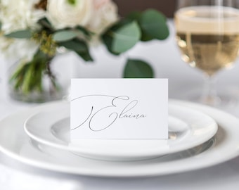 Calligraphy Place cards Style 4, Wedding Place Card, Event Place Cards, Printable