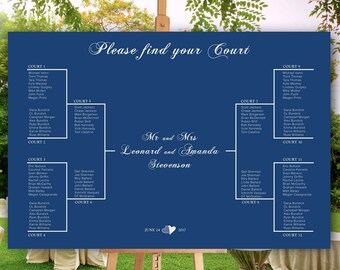 Sport themed wedding | seating chart idea | tournament brackets | printable file