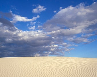 Landscape Photography - Sand dunes at White Sands National Monument, New Mexico