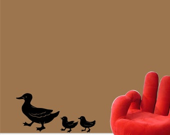 Duck Wall Vinyl Decal - Ducks in a Row Wall Vinyl Sticker - Duck Family Decal - Baseboard Decal